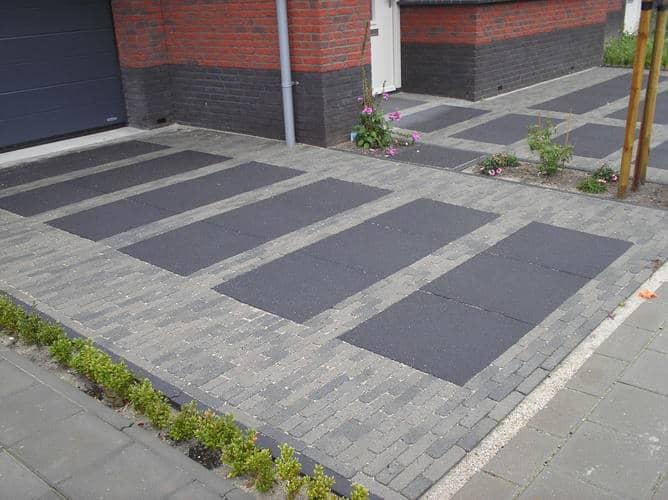 Zelf oprit bestraten klustips hulp bij al je klussen for Ontwerp voortuin met parkeerplaats