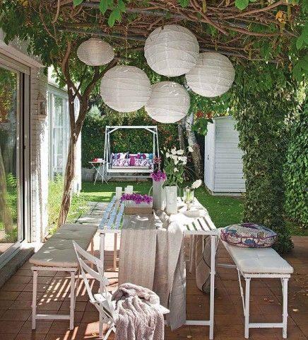 zomerse tuin